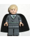 Minifig No: hp024  Name: Draco Malfoy, Dark Bluish Gray Sweater, Cape