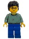 Minifig No: hp038  Name: Harry Potter, Sand Green Sweater Torso, Blue Legs