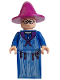 Minifig No: hp049  Name: Professor Sybill Trelawney, Light Purple Hat, Blue Robes