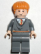 Minifig No: hp055  Name: Ron Weasley, Gryffindor Stripe Torso