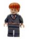 Minifig No: hp064  Name: Ron Weasley, Gryffindor Stripe Torso, Sleeping / Awake Face