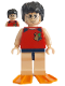 Minifig No: hp066  Name: Harry Potter, Tournament Sleeveless Shirt & Swim Trunks, Flippers