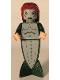 Minifig No: hp067  Name: Merman - Fish Tail, Long Dark Red Hair