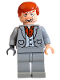 Minifig No: hp071  Name: Wormtail (Peter Pettigrew), Light Bluish Gray Suit