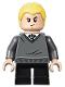 Minifig No: hp148  Name: Draco Malfoy, Slytherin Sweater, Black Short Legs