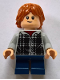 Minifig No: hp154  Name: Ron Weasley, Plaid Hoodie