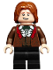 Minifig No: hp185  Name: Ron Weasley, Reddish Brown Suit, Shirt with Ruffle