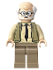 Minifig No: hp193  Name: Ernie Prang, Olive Green Vest Knit, Half Bald