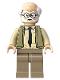 Minifig No: hp193  Name: Ernie Prang - Olive Green Vest Knit, Half Bald