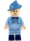 Minifig No: hp202  Name: Fleur Delacour, Bright Light Blue Robe