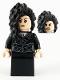 Minifig No: hp218  Name: Bellatrix Lestrange, Black Dress, Long Black Hair