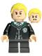 Minifig No: hp254  Name: Draco Malfoy, Black Torso Slytherin Robe
