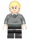 Minifig No: hp262  Name: Draco Malfoy, Slytherin Sweater, Black Medium Legs