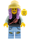 Minifig No: hs003  Name: Parker L. Jackson - Black Top with Beanie (Open Mouth Smile / Scared)