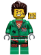 Minifig No: hs005  Name: Douglas Elton / El Fuego - Coveralls with Hair