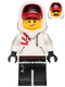 Minifig No: hs009  Name: Jack Davids - White Hoodie with Cap and Hood (Lopsided Smile / Scared)