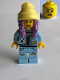 Minifig No: hs014  Name: Parker L. Jackson - Denim Jacket with Beanie (Open Mouth Smile / Scared)