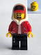 Minifig No: hs018  Name: Jack Davids - Red Jacket with Cap and Hood (Lopsided Smile / Scared)