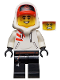 Minifig No: hs050  Name: Jack Davids - White Hoodie with Cap and Hood (Large Smile with Teeth / Angry)
