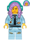 Minifig No: hs053  Name: Parker L. Jackson - Denim Jacket with Headphones (Crooked Smile / Angry)