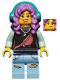 Minifig No: hs072  Name: Parker L. Jackson - Black Top with Headphones (Smile / Grumpy)