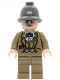 Minifig No: iaj002  Name: Henry Jones Sr. - Dark Bluish Gray Pith Helmet