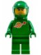Minifig No: idea007  Name: Classic Space - Green with Airtanks and Motorcycle (Standard) Helmet with Visor (Pete)