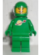 Minifig No: idea008  Name: Classic Space - Green with Airtanks and Motorcycle (Standard) Helmet with Visor (Yve)