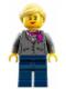 Minifig No: idea009  Name: Research Scientist Female, Magenta Scarf