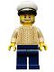 Minifig No: idea032  Name: Captain, Tan Torso, White Cap