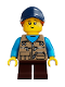 Minifig No: idea054  Name: Girl, Freckles, Dark Tan Vest Over Dark Azure Shirt, Dark Blue Cap