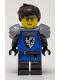 Minifig No: idea084  Name: Black Falcon, Female, Pearl Dark Gray Armor