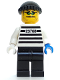 Minifig No: ixs002  Name: Xtreme Stunts Brickster with Black Knit Cap
