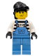 Minifig No: ixs007  Name: Xtreme Stunts Brickster Henchman with Medium Blue Overalls #2