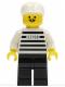 Minifig No: jail003  Name: Police - Jailbreak Joe, Black Legs with White Cap