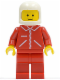 Minifig No: jred015  Name: Jacket Red with Zipper - Red Arms - Red Legs, White Classic Helmet