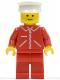Minifig No: jred019  Name: Jacket Red with Zipper - Red Arms - Red Legs, White Hat
