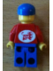 Minifig No: jred024s  Name: Jacket Red with Zipper - Red Arms - Blue Legs, Blue Cap with Arla Dairy Logo Pattern on Back (Sticker)