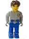 Minifig No: js004  Name: Jack Stone - Gray Jacket, Blue legs