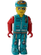 Minifig No: js027  Name: Crewman with Dark Turquoise Vest and Pants, Red Arms