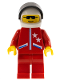 Minifig No: jstr007  Name: Jacket 2 Stars Red - Red Legs, White Helmet, Black Visor
