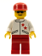 Minifig No: jstr008  Name: Jacket 2 Stars White - Red Legs, Red Cap