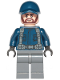 Minifig No: jw061  Name: Guard, Ball Cap, Dark Brown Beard, Dark Bluish Gray Legs