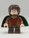 Minifig No: lor028  Name: Frodo Baggins - Dark Green Cape