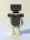 Minifig No: min018  Name: Skeleton with Cube Skull - Flat Silver Helmet and Armor