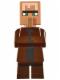 Minifig No: min028  Name: Villager - Reddish Brown Top