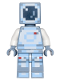Minifig No: min037  Name: Minecraft Skin 4 - Pixelated, White and Bright Light Blue Spacesuit and Dark Blue Visor