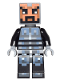 Minifig No: min038  Name: Minecraft Skin 5 - Pixelated, Male with Black and Silver Armor