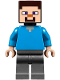 Minifig No: min048  Name: Steve - Flat Silver Legs