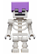 Minifig No: min065  Name: Skeleton with Cube Skull - Medium Lavender Helmet